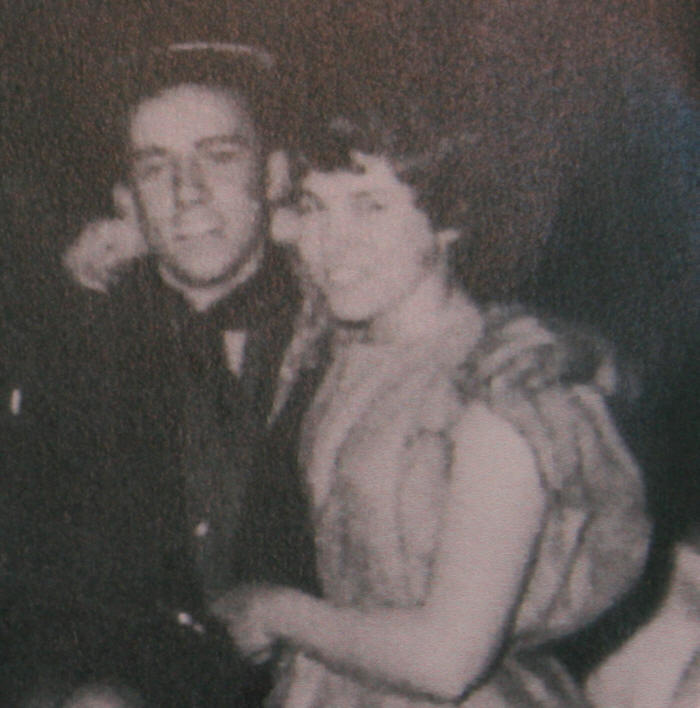 Al Heffron and Edna Harrison at the Tramps Ball at Rivington Barn 1957.